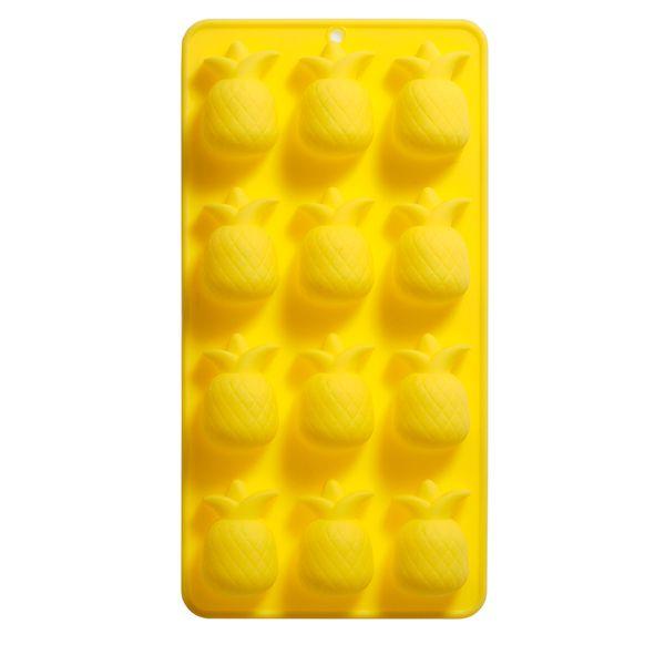 Forma de Gelo Abacaxi Silicone Amarelo 21X11CM - 30264