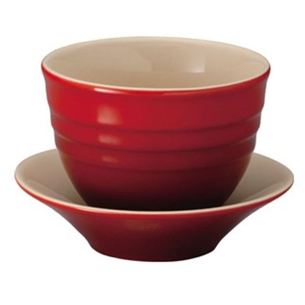 Xícara de café de de cerâmica Le Creuset vermelha - 0013311.6