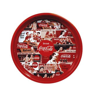 Bandeja de metal Things go better Coca-Cola vermelha 32 cm - 0033422.7
