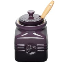 Pote-de-ceramica-para-geleia-com-espatula-Le-Creuset-cassis-450-ml