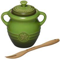 Pote-de-ceramica-para-azeitona-com-pegador-Le-Creuset-verde-350-ml