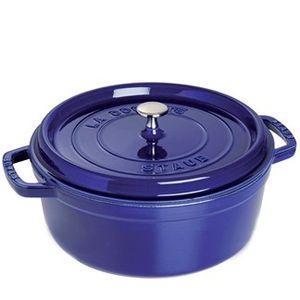 Cacarola-de-ferro-baixa-Staub-azul-marinho-26-cm