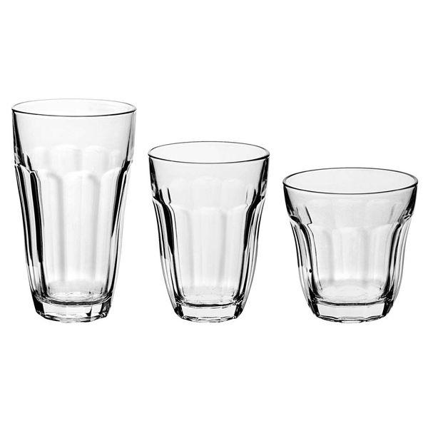 Copo-de-vidro-Baroque-Pasabahce-com-18-unidades