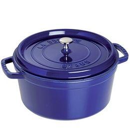 Cacarola-de-ferro-redonda-Staub-azul-marinho-34-cm