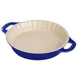 Travessa-de-ceramica-redonda-para-torta-Staub-azul-marinho-24-cm