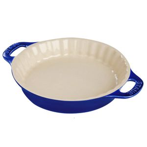 Travessa-de-ceramica-para-torta-Staub-azul-marinho-28-cm