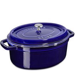 Cacarola-de-ferro-oval-Staub-azul-marinho-33-cm
