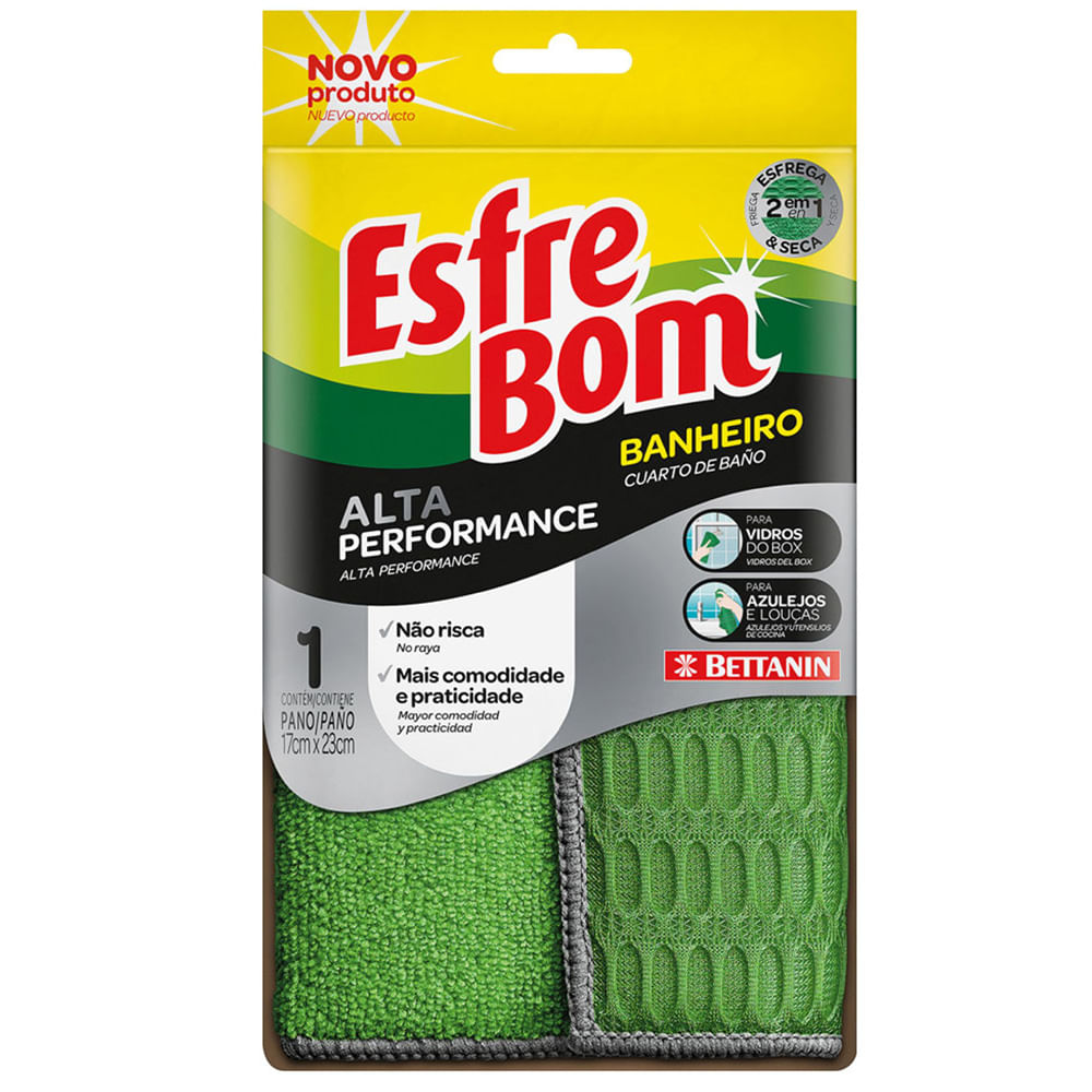 Pano para Limpeza de Banheiro Verde 23X17CM