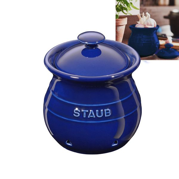 Pote-de-ceramica-para-alho-Staub-azul-marinho-12-cm---18372
