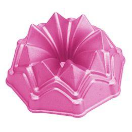 Mini-forma-antiaderente-redonda-Coroa-Profissional-Chef-rosa-10-cm---19320