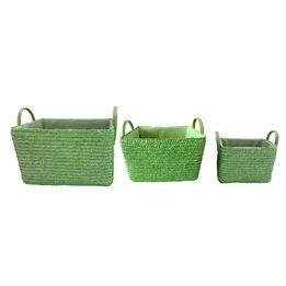 Cesta-de-palha-de-trigo-verde-3-pecas---21340