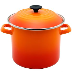 Caldeirão esmaltado Stock Pot Le Creuset laranja 26CM - 101413