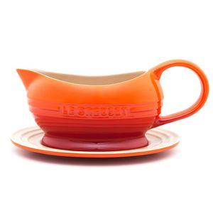 Molheira de cerâmica com pires Le Creuset laranja 470 ml - 102180