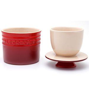Pote de cerâmica para manteiga Le Creuset vermelha 150 ml - 102185