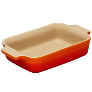 Travessa de cerâmica retangular Le Creuset laranja 32CM - 103420