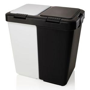 Lixeira seletiva com pedal Click OU branca e preta 40 litros - 8076