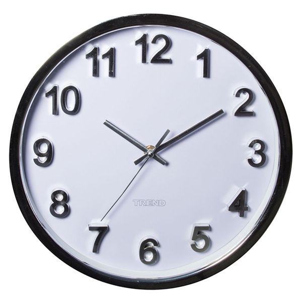 Relógio de parede de plástico Numbers Trend branco 30 cm - 23811