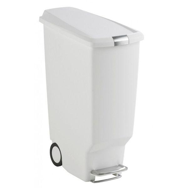 Lixeira-de-plastico-Slim-SimpleHuman-branca-40-litros---23913
