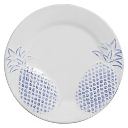 Prato-de-sobremesa-de-ceramica-Abacaxi-azul-6-pecas-20-cm---23843