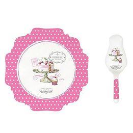 Prato-para-bolo-de-porcelana-Goumandise-2-pecas-30-cm---23463-