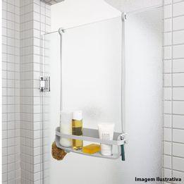 Porta-shampoo-flexivel-de-silicone-Caddy-Umbra-cinza-64-x-31-x-9-cm---24501
