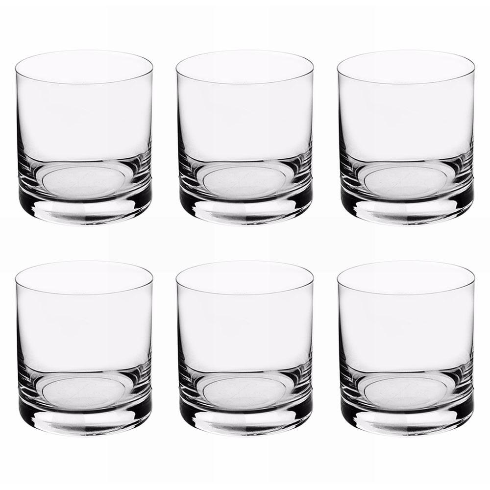 Conjunto Copo de Cristal para Whisky Barware Bohemia 410ML 6PÇS