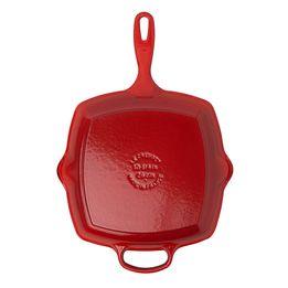Grelha-de-ferro-quadrada-Signature-Le-Creuset-vermelha-26-cm---25034