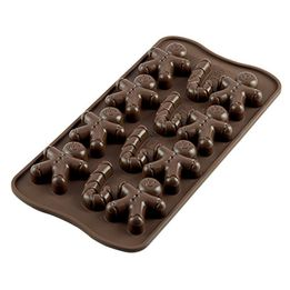 Forma-de-silicone-para-chocolate-Mr-Ginger-Silikomart-marrom-215-cm-x-105-cm---25533