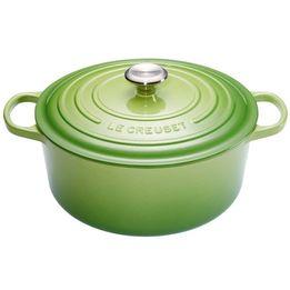 Panela-de-ferro-redonda-Signature-Le-Creuset-verde-palm-28-cm---25489