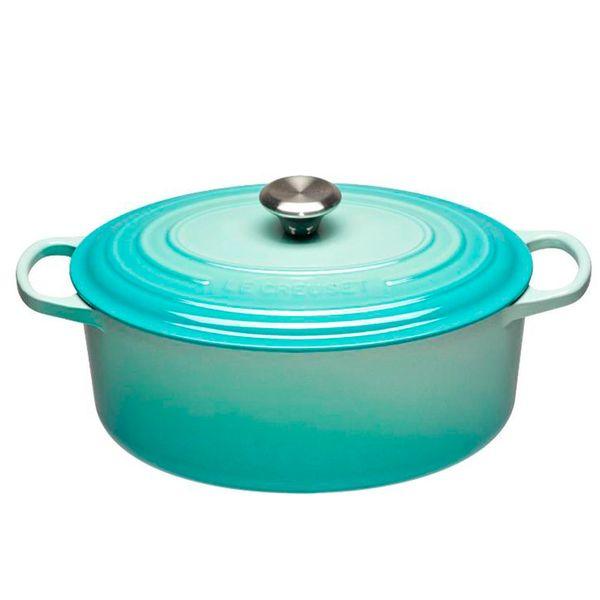 Panela-de-ferro-oval-Signature-Le-Creuset-cool-mint-31-cm---25289