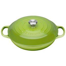 Cacarola-de-ferro-buffet-Signature-Le-Creuset-verde-palm-30-cm---25460