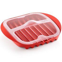 Cozedor-de-bacon-de-plastico-para-micro-ondas-Lekue-vermelho-275-x-25-x-7-cm---25726