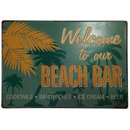 Placa-de-ferro-Beach-Bar-verde-35-x-25-cm---16160-