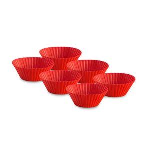 Forminha-de-silicone-para-muffins-Le-Creuset-vermelha-6-pecas---103890