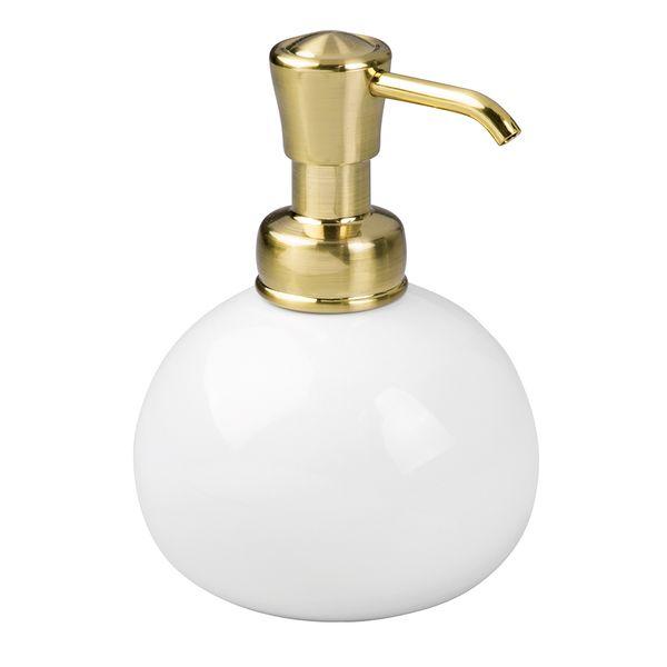 Porta-sabonete-liquido-de-ceramica-York-InterDesign-dourado-295-ml---26430