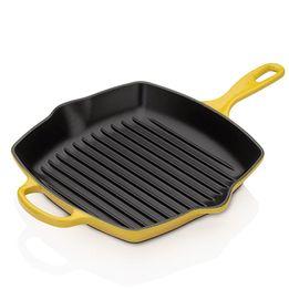 Grelha-de-ferro-quadrada-Signature-Le-Creuset-amarelo-soleil-26-cm---26690