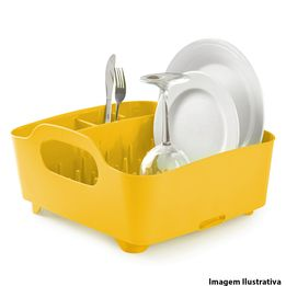 Escorredor-de-louca-de-plastico-Tub-Dish-Umbra-amarelo-38-x-35-cm---26850