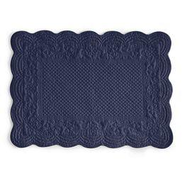 Jogo-americano-retangular-de-algodao-Matelasse-azul-marinho-50-x-35-cm