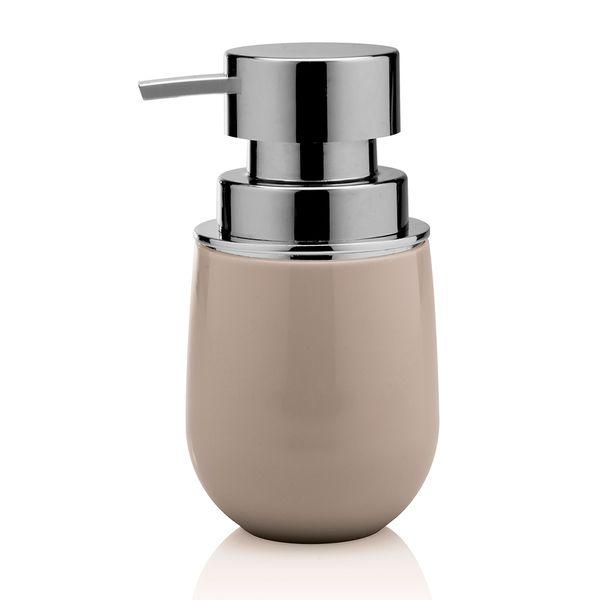 Porta-sabonete-liquido-de-polipropileno-New-Belly-Ou-bege-400-ml---27091