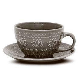 Xicara-de-cha-de-ceramica-Relieve-Corona-cinza-260-ml---27373-
