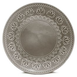 Prato-de-sobremesa-de-ceramica-Relieve-Corona-cinza-20-cm---27370