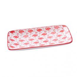 Petisqueira-de-ceramica-Flamingo-rosa-e-branca-22-x-12-cm---28010