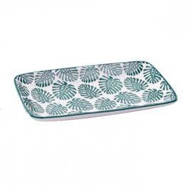 Petisqueira-de-ceramica-Folhas-verde-e-branca-22-x-12-cm---28011