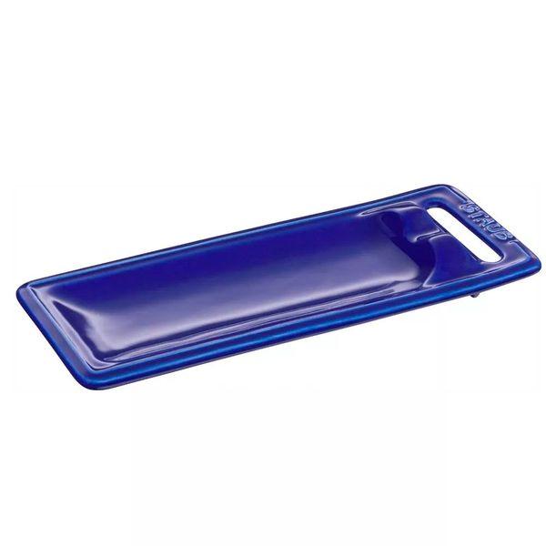 Descanso-para-talher-de-ceramica-Staub-azul-25-x-10-cm