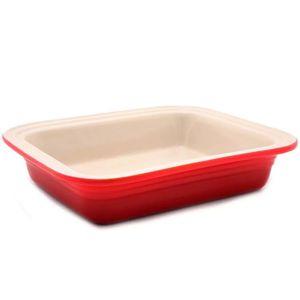 Travessa-de-ceramica-retangular-funda-Le-Creuset-vermelha-25-cm
