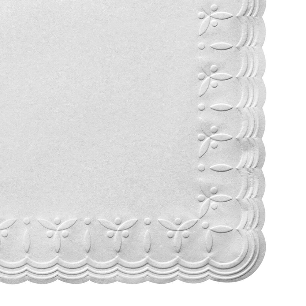 Guardanapo de Papel Banquete Trevo Relevo Branco 29X29CM 50PÇS