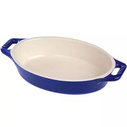 Travessa-de-ceramica-oval-Staub-azul-marinho-17-cm