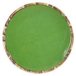 Prato-de-sobremesa-de-ceramica-Maison-Blanche-verde-20-cm---28251