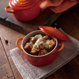 Mini-cocotte-de-ceramica-Le-Creuset-laranja-2-pecas
