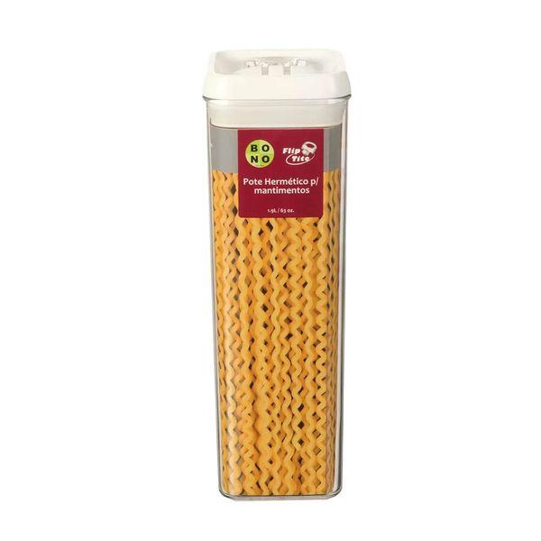 Pote de acrílico hermético Flip Tite 1,9 litros